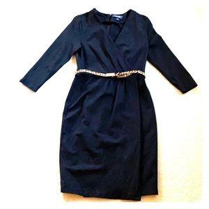 Lands End Little Black Dress 3/4 sleeve size 6